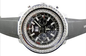 Breitling Mens Stainless Steel Rolex Watch with 2.15Ct Diamond MOP Dial