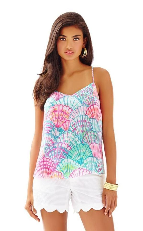 591cf4a1b38 Lilly Pulitzer Oh Shello New Dusk Racer Silk M Top Cami Tank Top ...