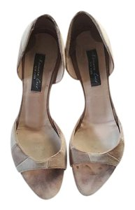 Kenneth Cole tan and cream Pumps