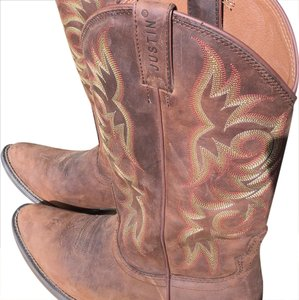 Justin Cowboy Leather brown Boots