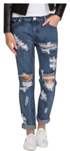 One Teaspoon Awesome Baggies Boyfriend Cut Jeans-Distressed