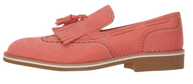 Item - Coral Suede Leather Loafers Formal Shoes Size US 12 Regular (M, B)