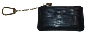Louis Vuitton Pochette Cles Epi Coated Leather Credit Coin Keychain Purse (Black)
