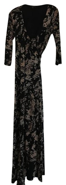 Item - Black and Gold Wrap Maternity Long Casual Maxi Dress Size 2 (XS)