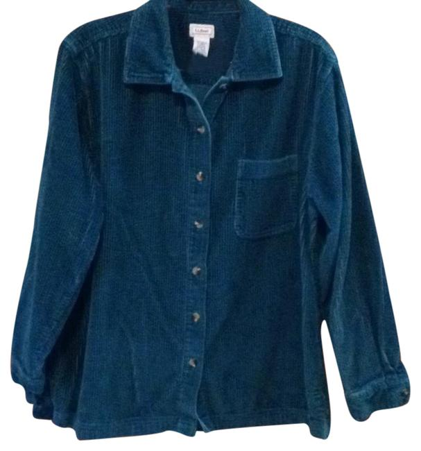 Lands 39 end green heavy cord shirt button down top size 12 for Heavy button down shirts