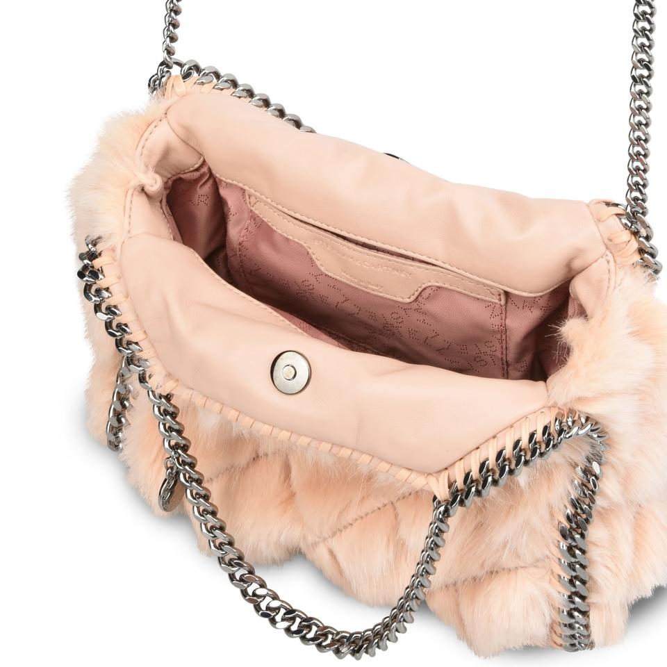 Stella McCartney New Falabella Faux Fur Tote Handbag Nude Shoulder Bag 36%  off retail e0840f955135c