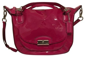 Coach Patent Leather Magenta Kristin Hot Satchel in Pink
