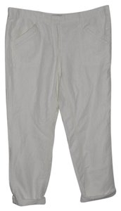 Ann Taylor LOFT Casual Resort Linen Straight Pants White