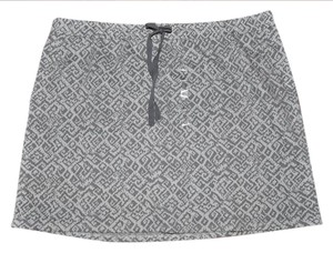 Ann Taylor LOFT Casual Lounge Resort Mini Skirt Gray