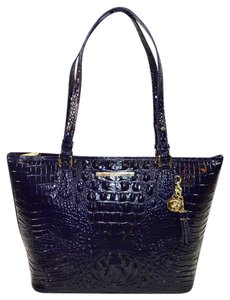 Brahmin Melbourne Med Asher Tote in Ink