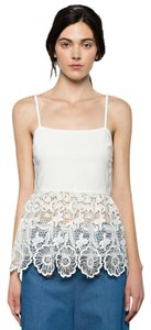 Armed Imogen Lace Peplum Top white