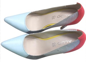 ALDO red, blue, yellow Pumps