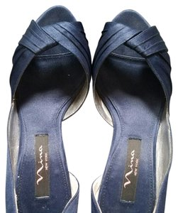 Nina Shoes New Navy Luster Satin Formal