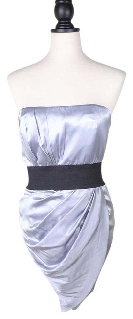 Preload https://img-static.tradesy.com/item/20795987/foley-corinna-silver-ruched-strapless-short-cocktail-dress-size-4-s-0-1-650-650.jpg
