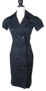 Club Monaco Fitted Double Breasted Trench Dress