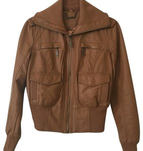 Jou Jou tan Leather Jacket