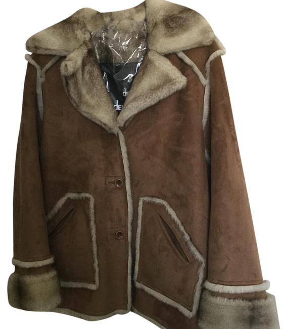 Item - Brown Suede with Browns/Tans/Blacks Textured Faux Fur. And Coat Size 12 (L)