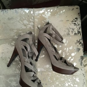 Cole Haan Grey Platforms