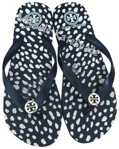 Tory Burch Black/ Cream Sandals