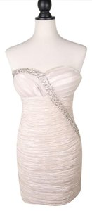 Romeo & Juliet Couture Rhinestone Sequin Ruched Strapless Dress