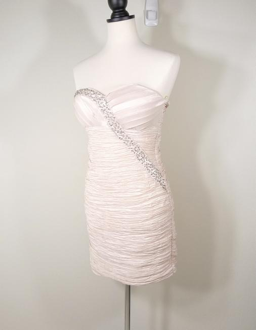 Romeo & Juliet Couture Rhinestone Sequin Ruched Strapless Dress Image 1