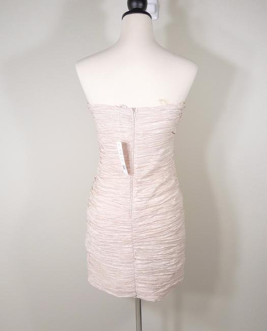 Romeo & Juliet Couture Rhinestone Sequin Ruched Strapless Dress Image 3