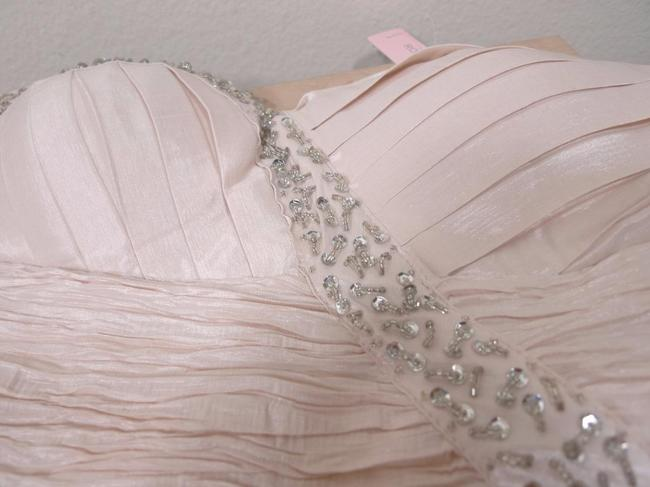 Romeo & Juliet Couture Rhinestone Sequin Ruched Strapless Dress Image 6