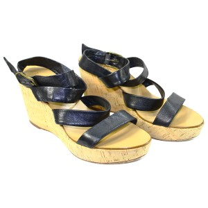 J.Crew Leather Pre-owned Black Wedges