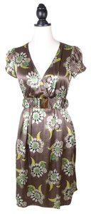 Hype Silk Print Floral Belted Dress