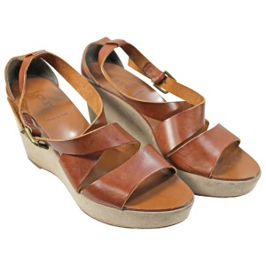 J.Crew Leather Pre-owned Brown Wedges