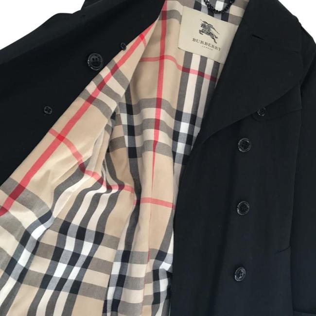 Item - Black with Nova Check Lining Double Breasted Trench Coat Size 6 (S)