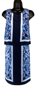 MICHAEL Michael Kors short dress blue multi color on Tradesy