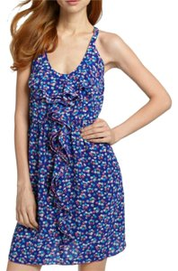 Rebecca Taylor short dress Silk Floral Ruffle Print Sleeveless on Tradesy