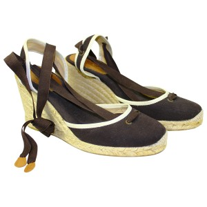 J.Crew Canvas Sandal ESPRESSO Wedges