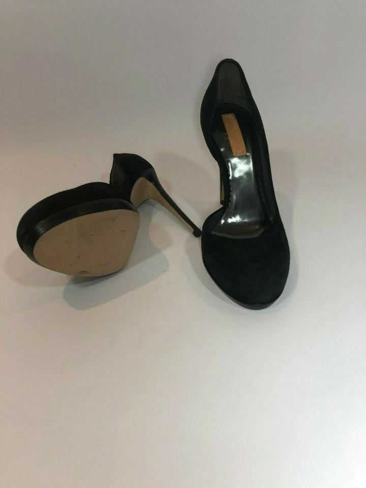 Reed Krakoff D/'Orsay Suede leather Black High Heels Shoes Pumps 35.5 NEW $795