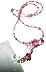 Miney Mouse Lanyard Nurse Identification Badge Pink Crystals J715