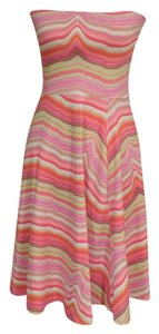 Echo short dress Orange stripe on Tradesy