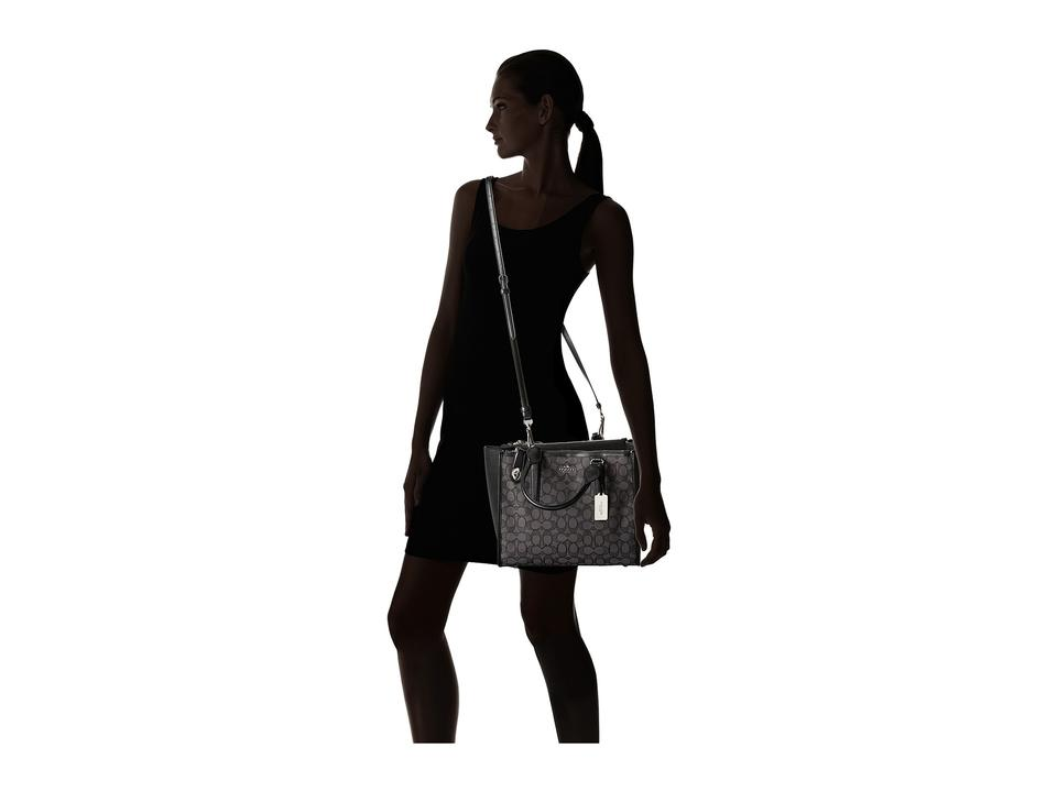 Coach Crosby Carryall In Silver Black Smoke Black Signature Jacquard with  Leather Trim Satchel 22% off retail 03a4ad772c237