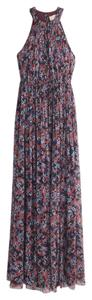 Autumn Floral Maxi Dress by J.Crew Gown Silk Pre-owned Halter