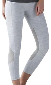 Lululemon Lululemon new with tag pace rival crop white gray nimbus 4