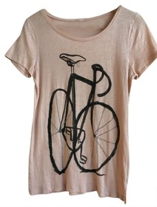 J.Crew Bicycle T Shirt Pale pink