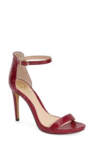 Vince Camuto Red Snake Leather Sandals Berry Pumps