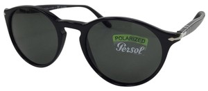 Persol New Persol 3092-S-M 9014/58 Polarized Black Plastic Style Sunglasses 145mm