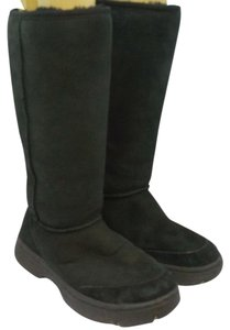 UGG Australia Black Leather Suede Boots