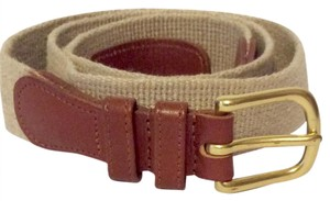 Coach linen and leather belt