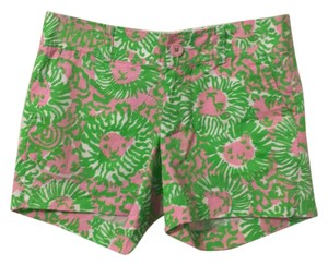 Lilly Pulitzer Dress Shorts Pink and Green lion print