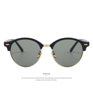 Merry's Rivet Vintage Half-frame Sunglasses