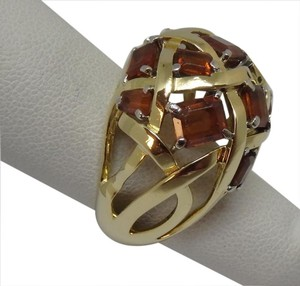 Tiffany & Co. Schlumberger Mandarin Garnet Dome Ring 18K sz 5.5