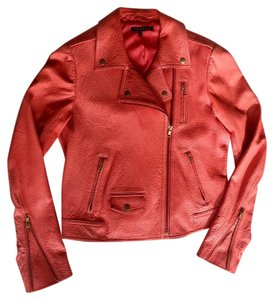 Theory Biker Motorcycle Leather Pink Motorcycle Jacket
