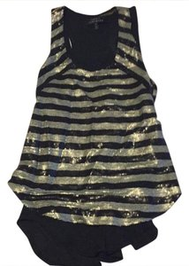 Robert Rodriguez Top black and silver sequence with a thin black tank top underneath